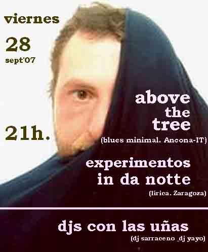 Adelanto de la nueva actuación de Experimentos in da notte (cartel de Dani Picore)