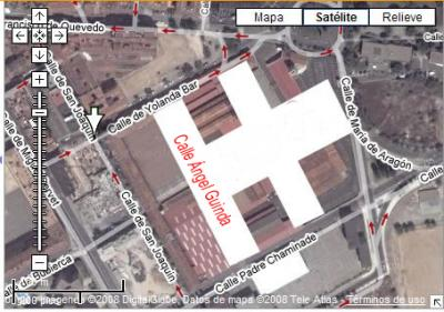 La calle Ángel Guinda